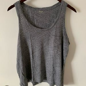 Madewell Gray Tank Top with Pocket